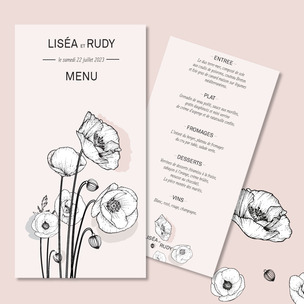 Menu | Poppies