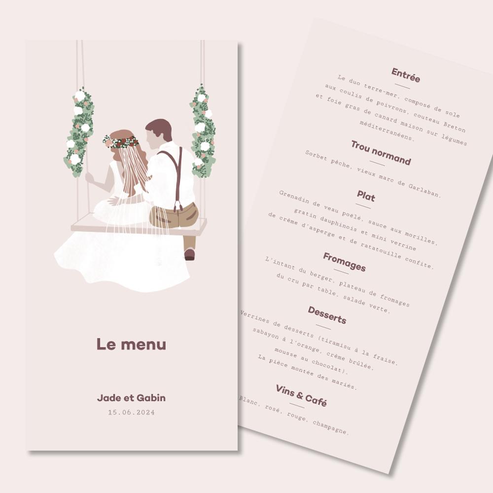 Menu | Balançoire