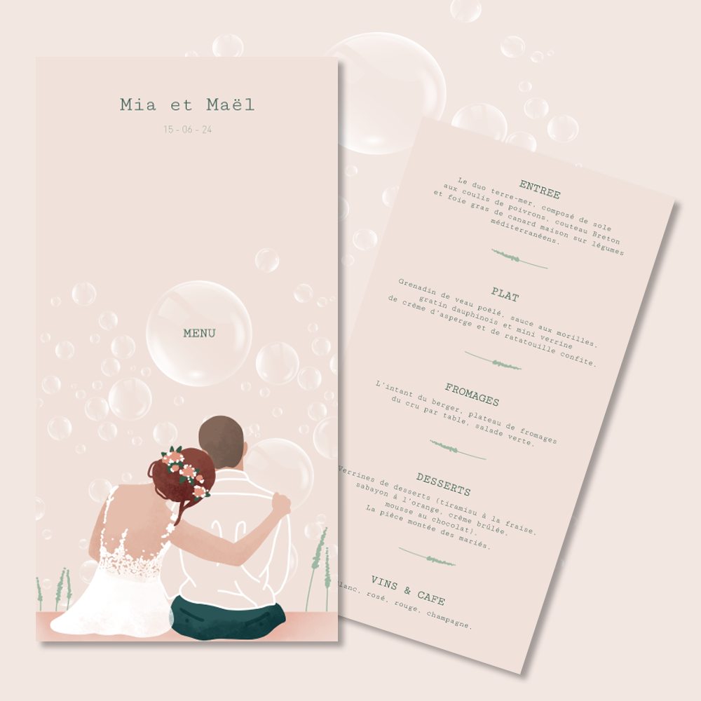 Menu | Bubbles