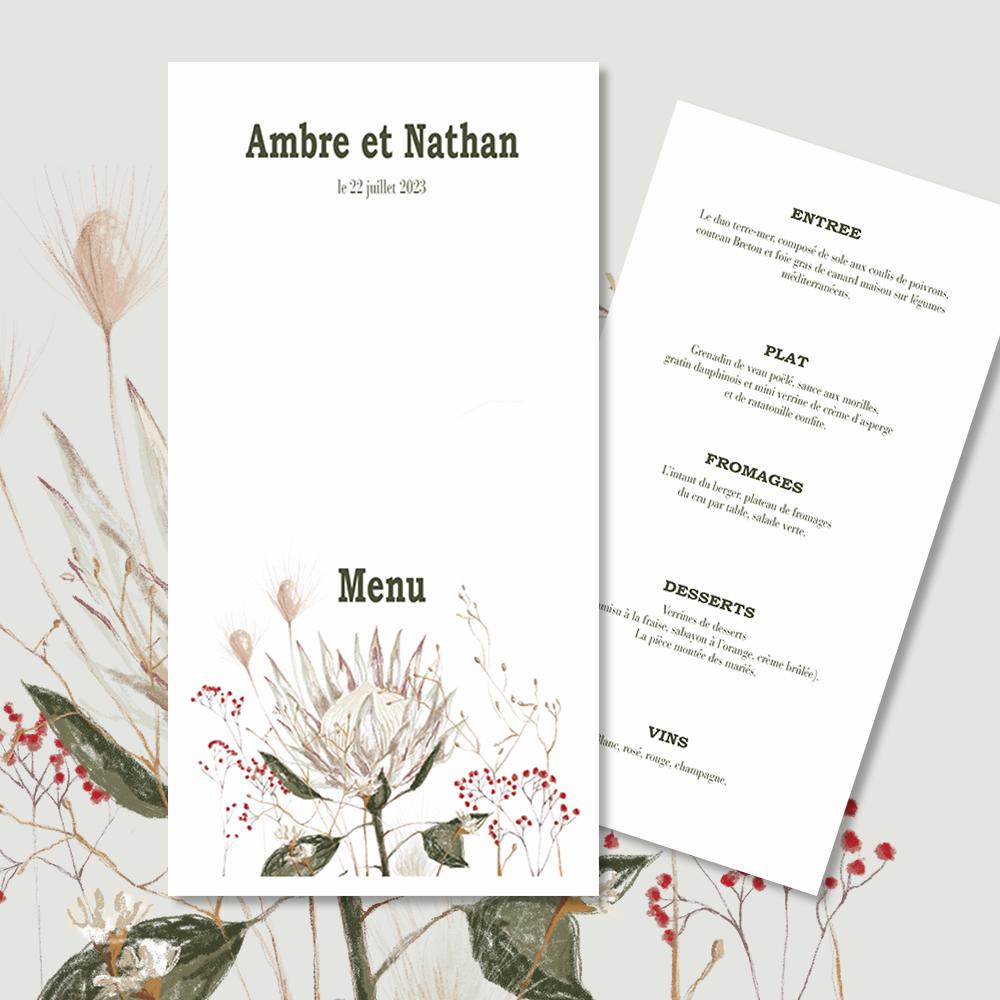 Menu | Protea