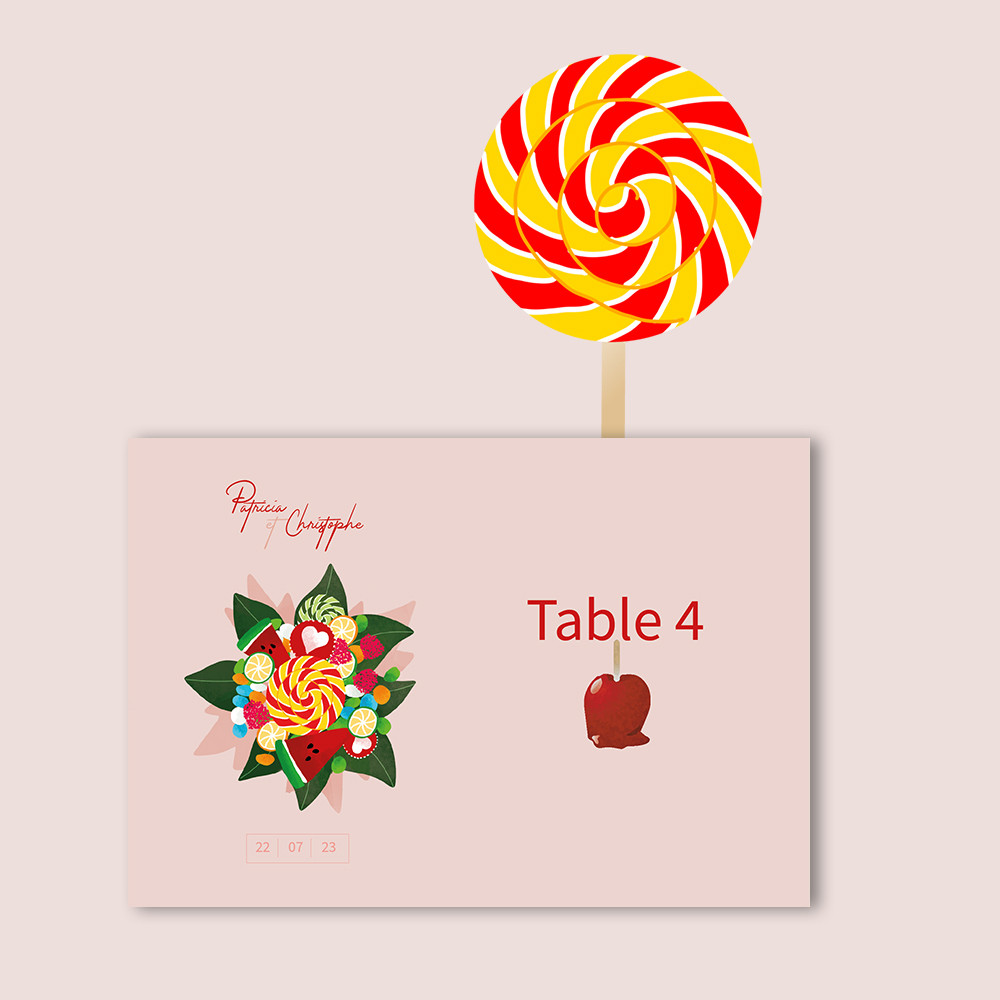 Marque-table | Candy