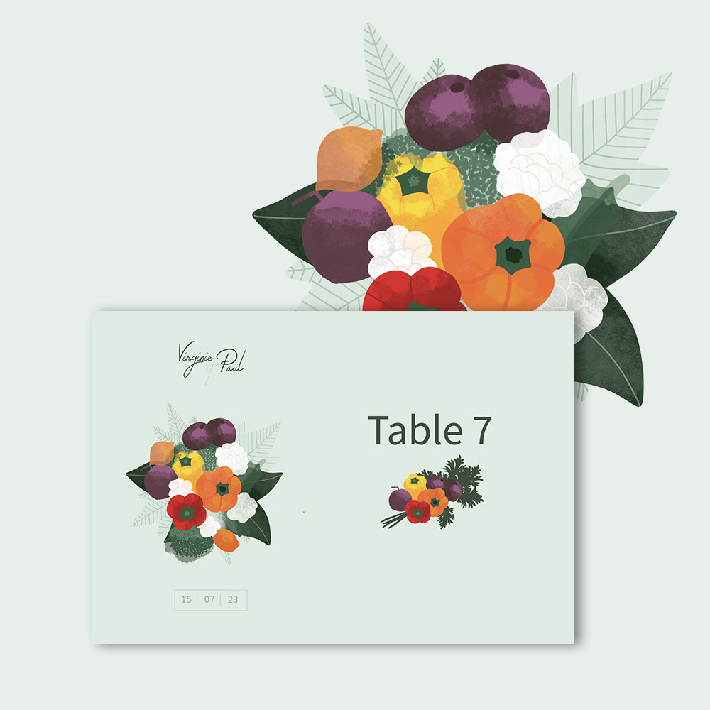 Marque-table | Vegetables
