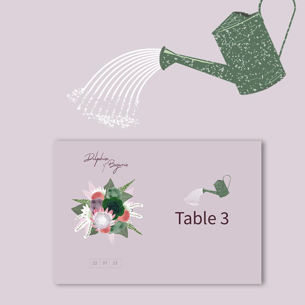Marque-table | Succulentes