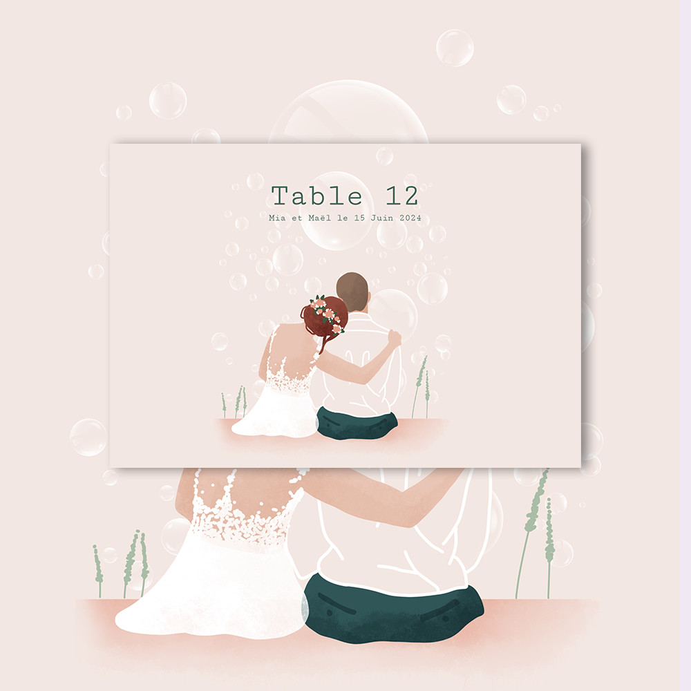 Table marker | Bubbles