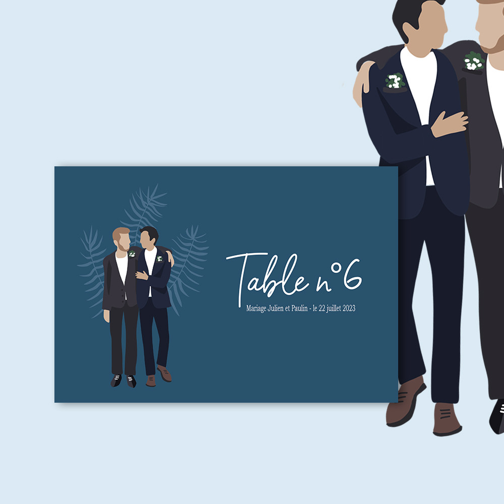 Marque-table | To be a man (2)