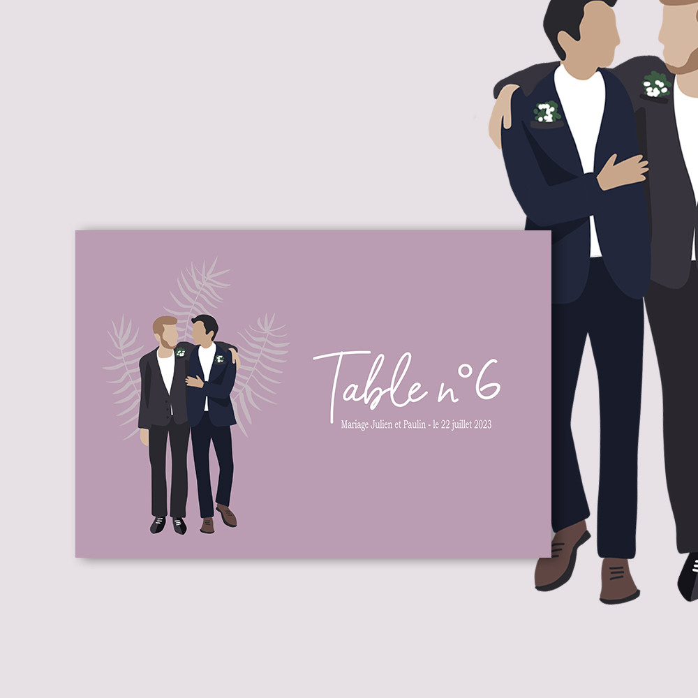 Marque-table | To be a man (1)