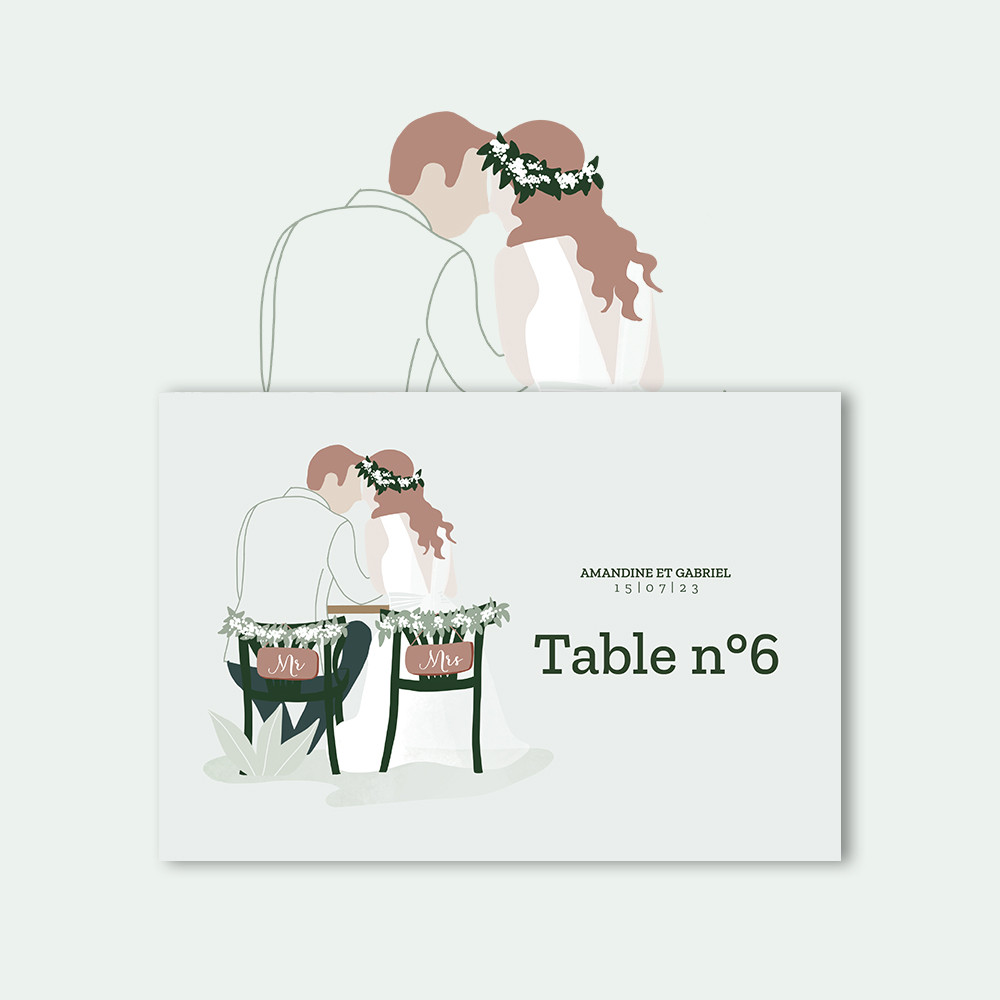 Marque-table | In the eyes