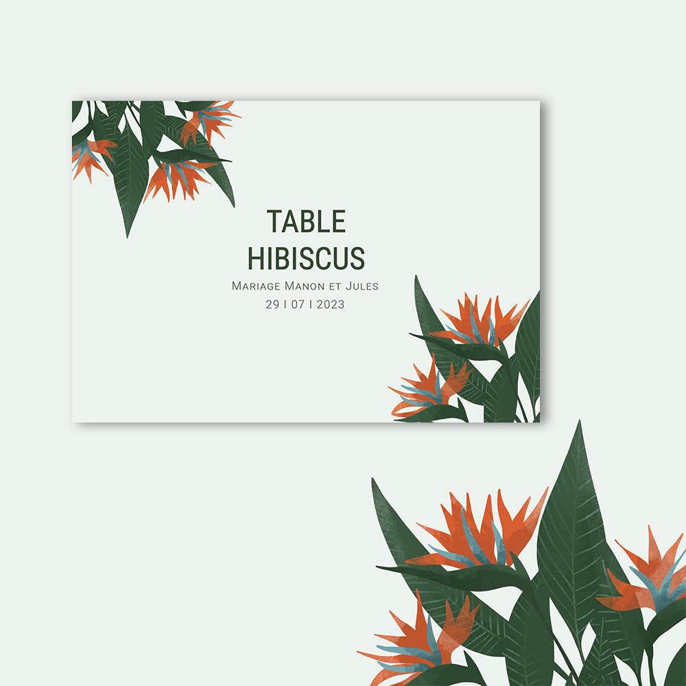 Marque-table | Paradis
