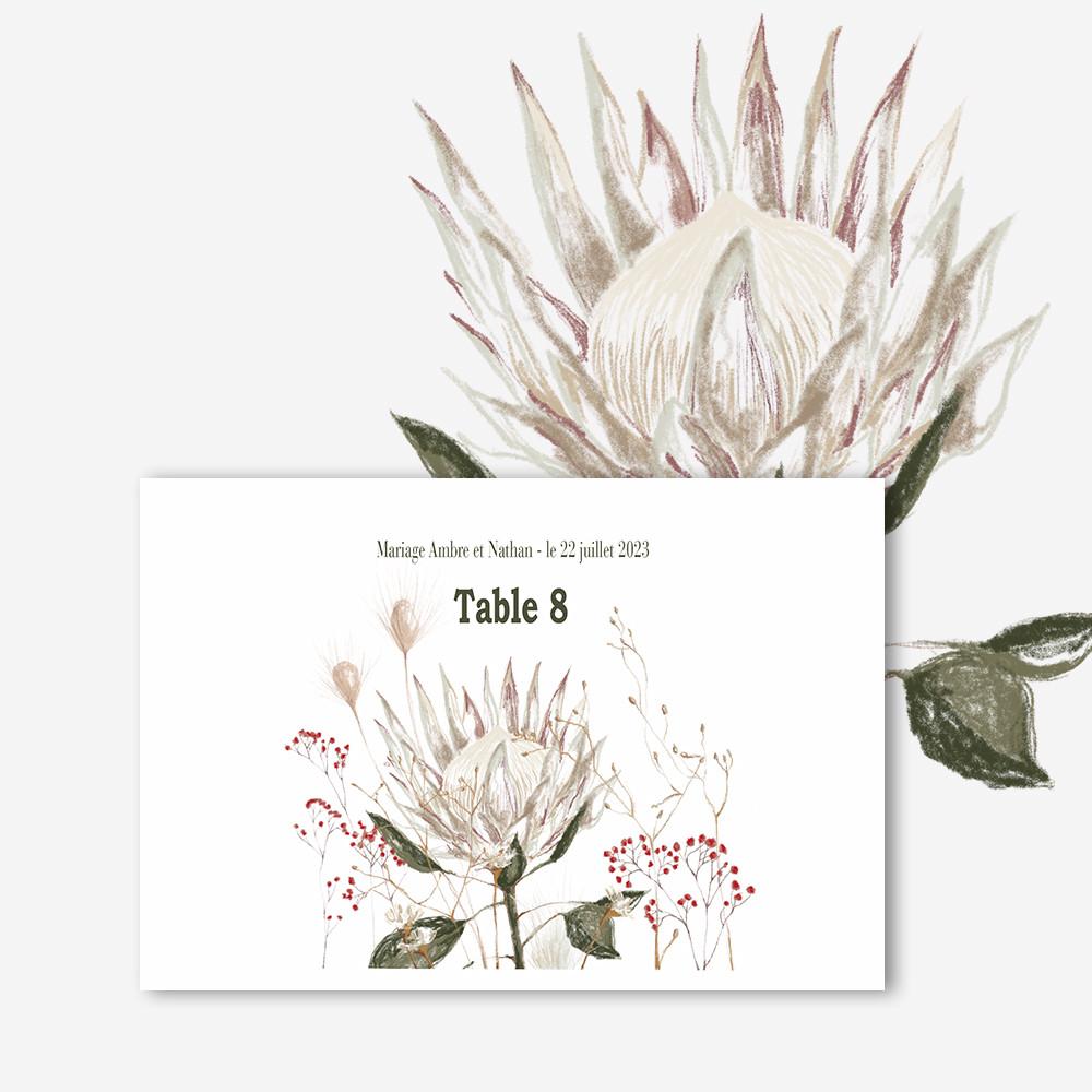 Marque-table | Protea