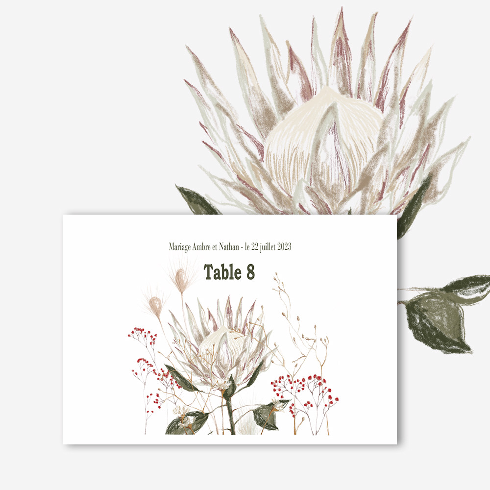 Table marker | Protea