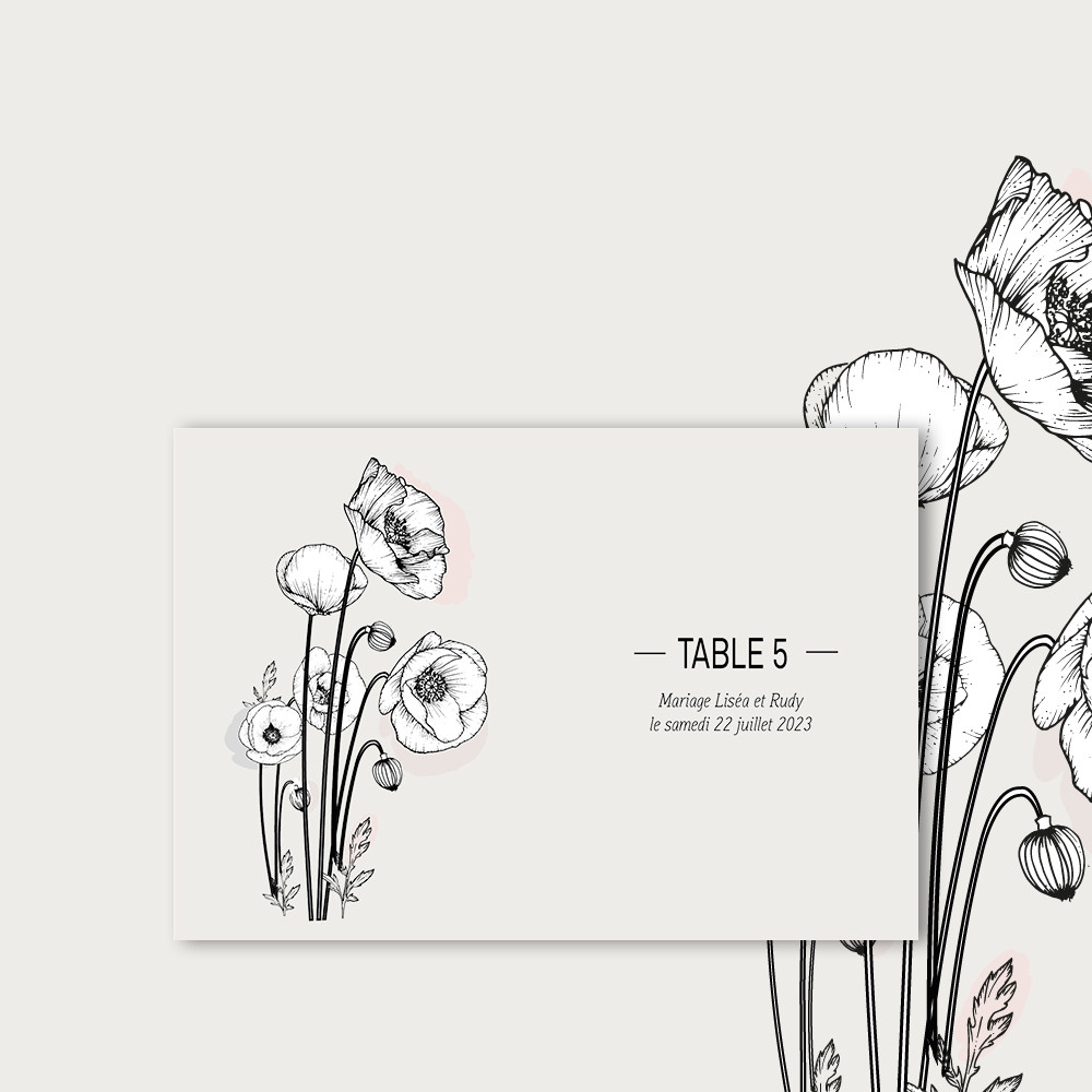 Table marker | Poppies