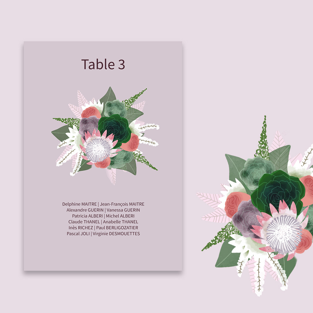 Table plan | Succulentes