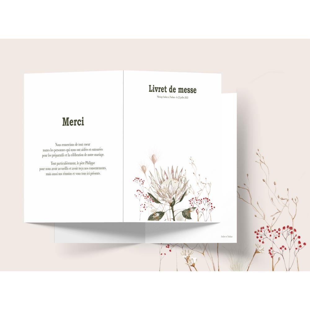Livret de messe | Protea