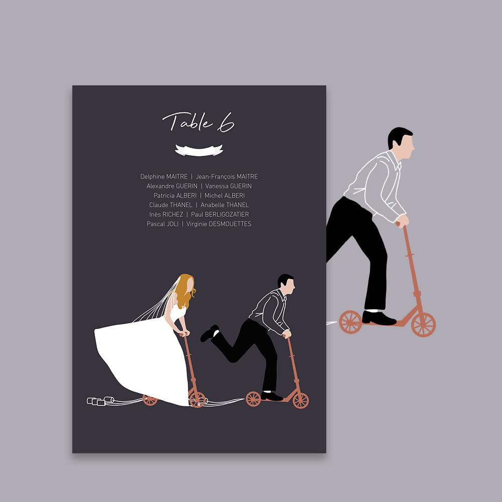 Plan de table | Trottinette...