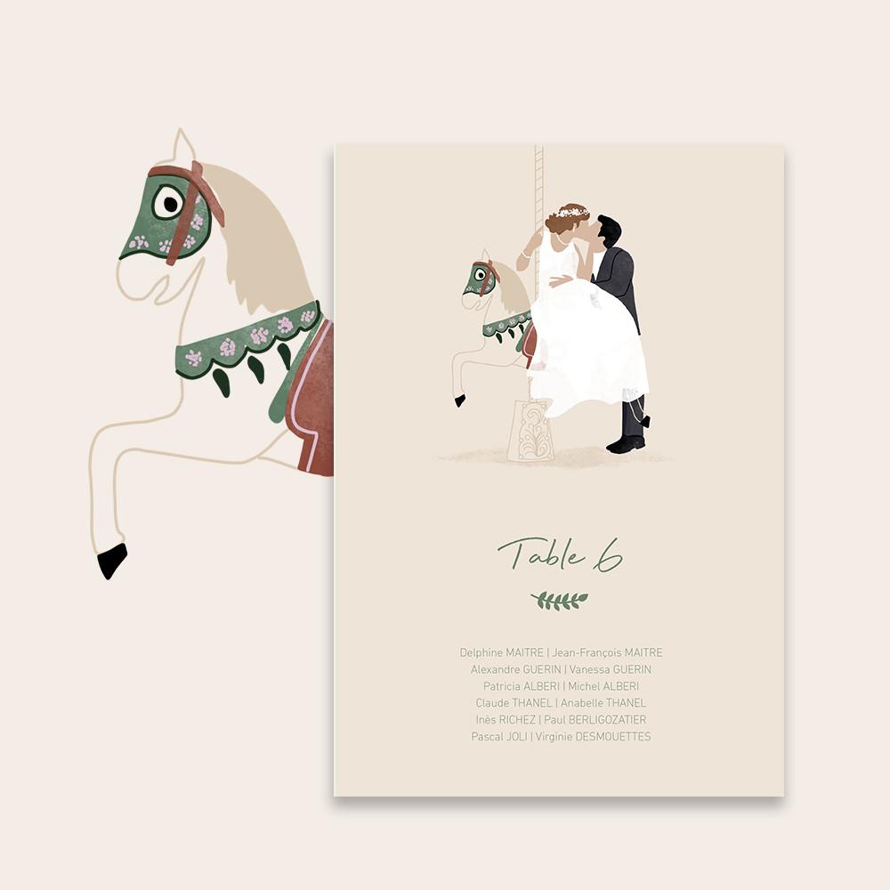 Plan de table | Carrousel