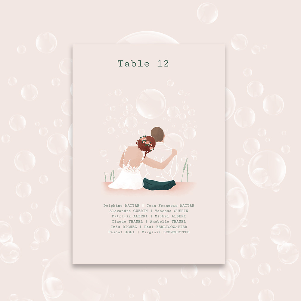 Table plan | Bubbles (1)