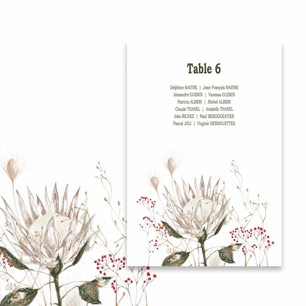 Plan de table |Protea (1)