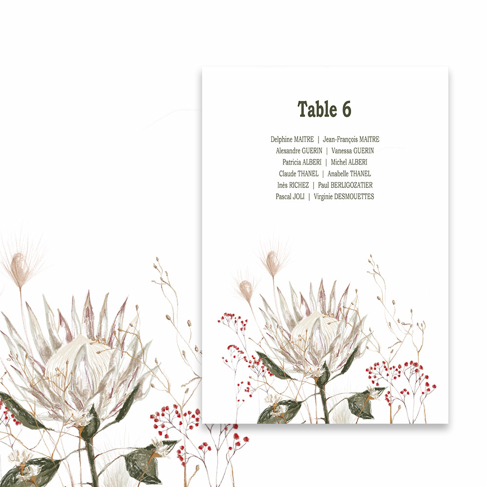 Table plan | Protea (1)