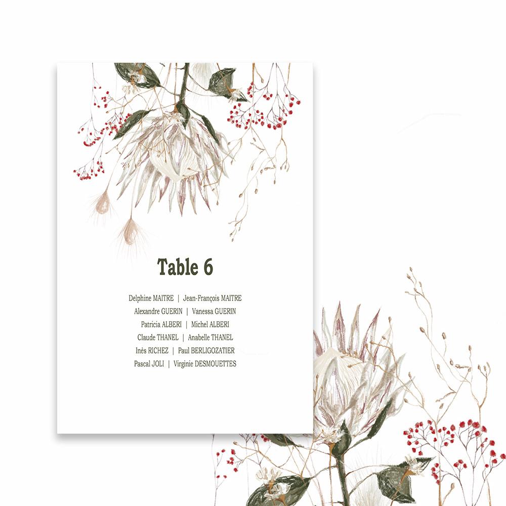Plan de table |Protea (2)