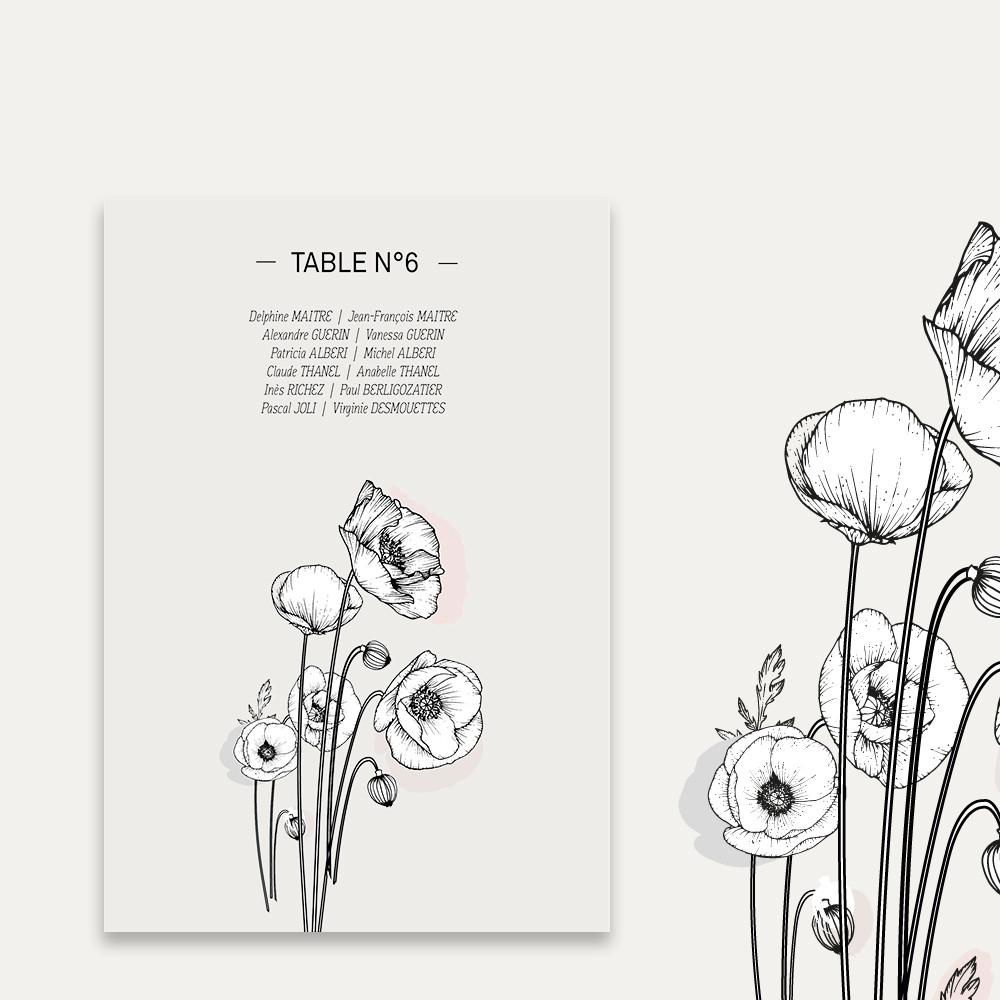 Plan de table |Poppies