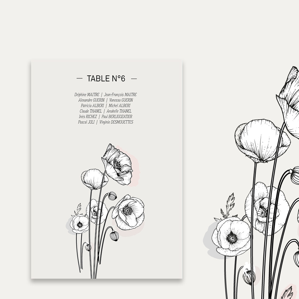 Table plan | Poppies