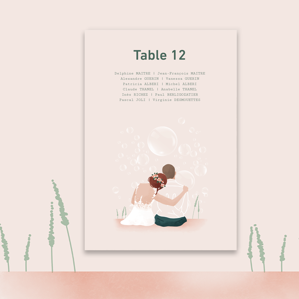 Plan de table | Bubbles (2)
