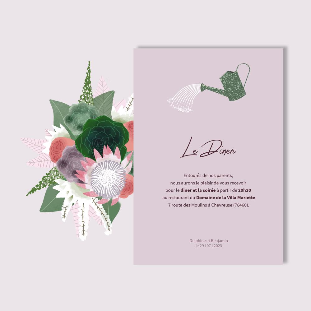 Invitation Diner | Succulentes
