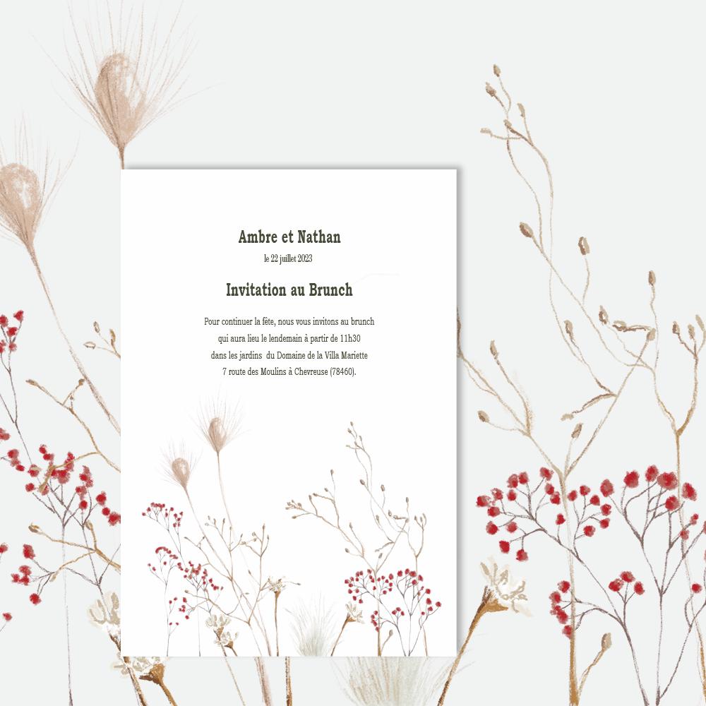 Invitation Brunch | Protea