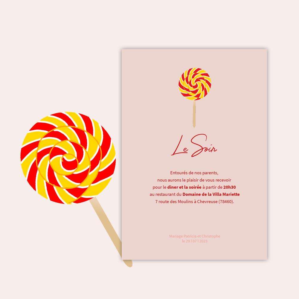 Invitation Diner | Candy