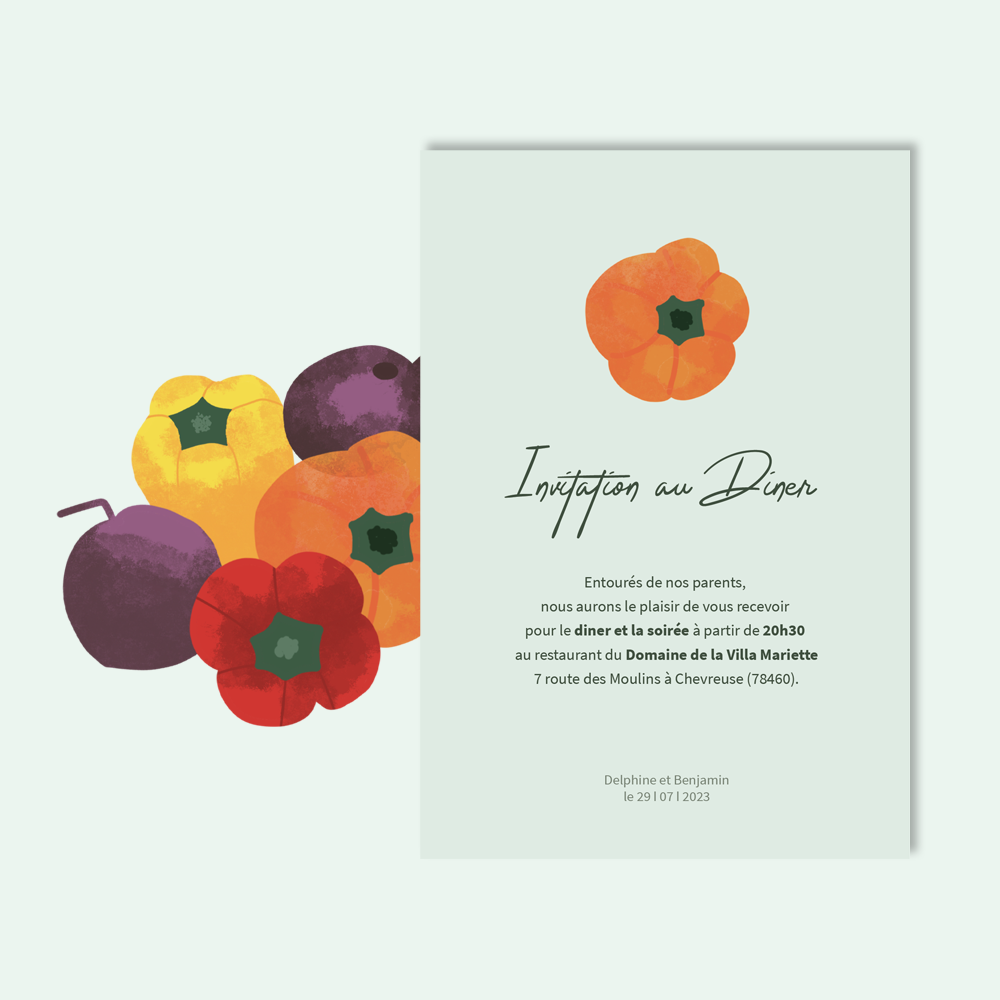 Diner Invitation | Vegetables