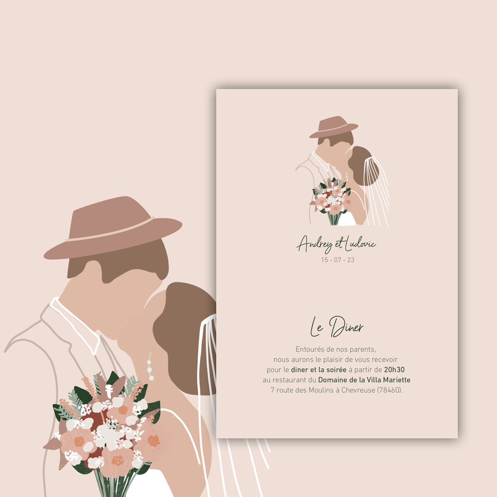 Invitation Diner | Baiser