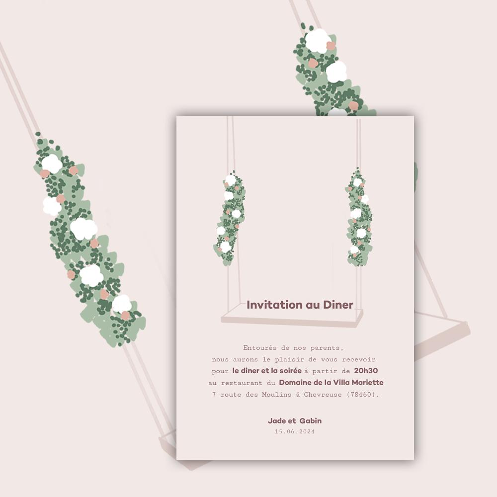 Diner Invitation | Balançoire