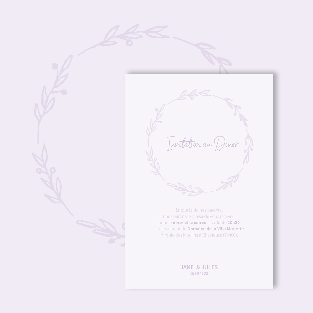 Diner Invitation | Bagatelle
