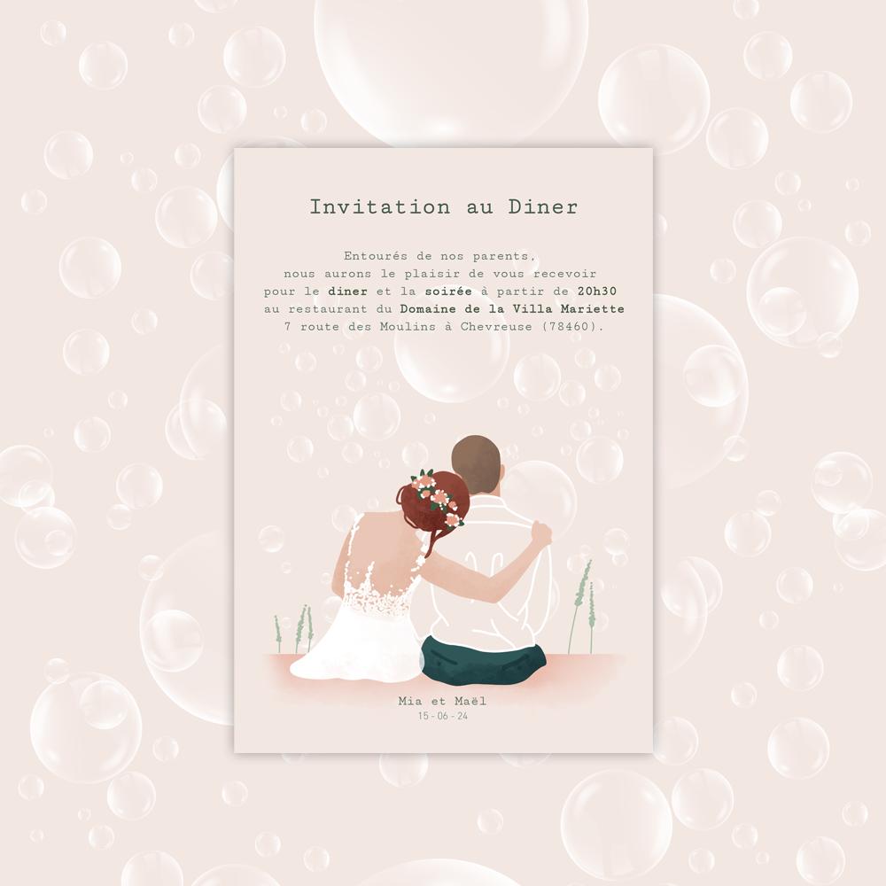Diner Invitation | Bubbles