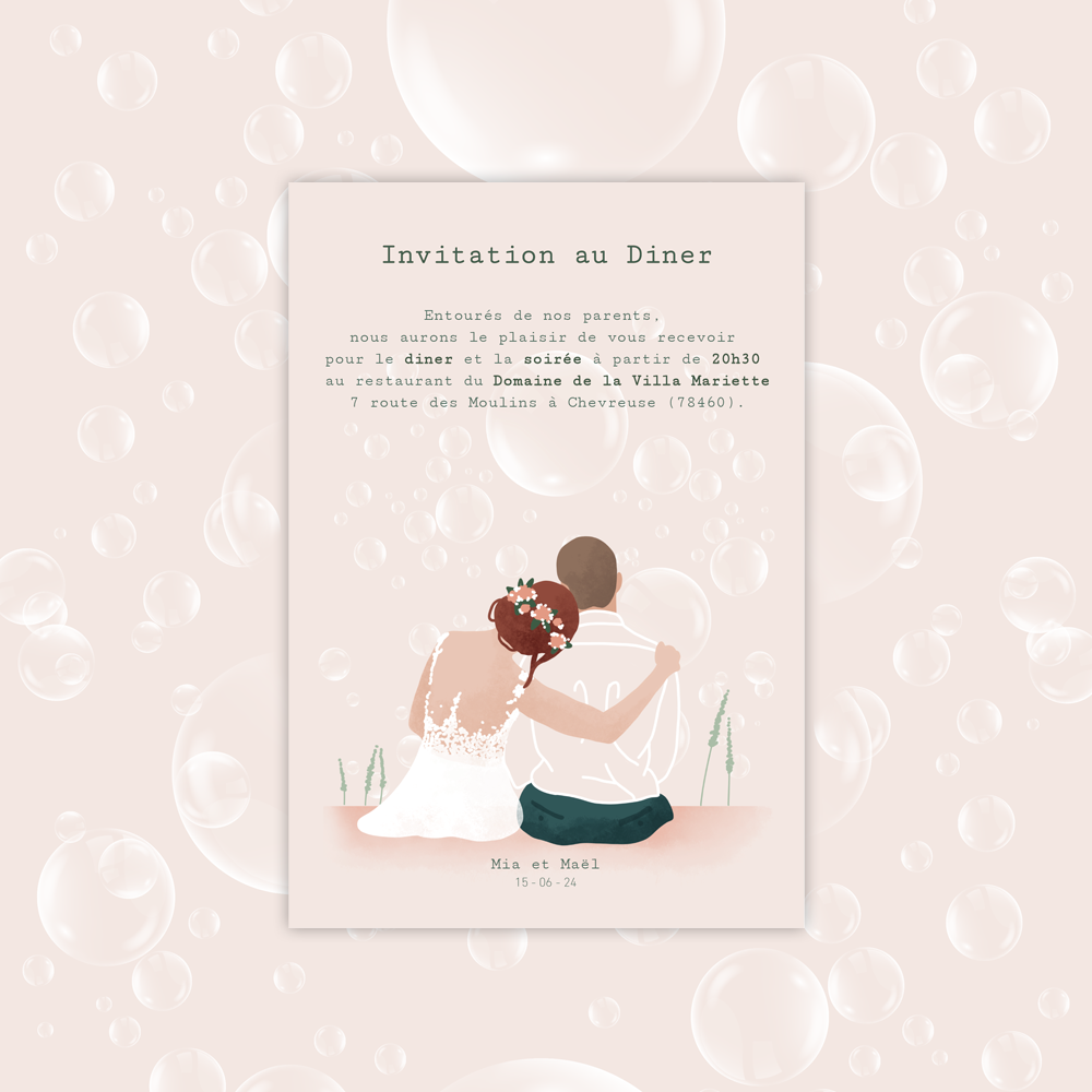 Invitation Diner | Bubbles