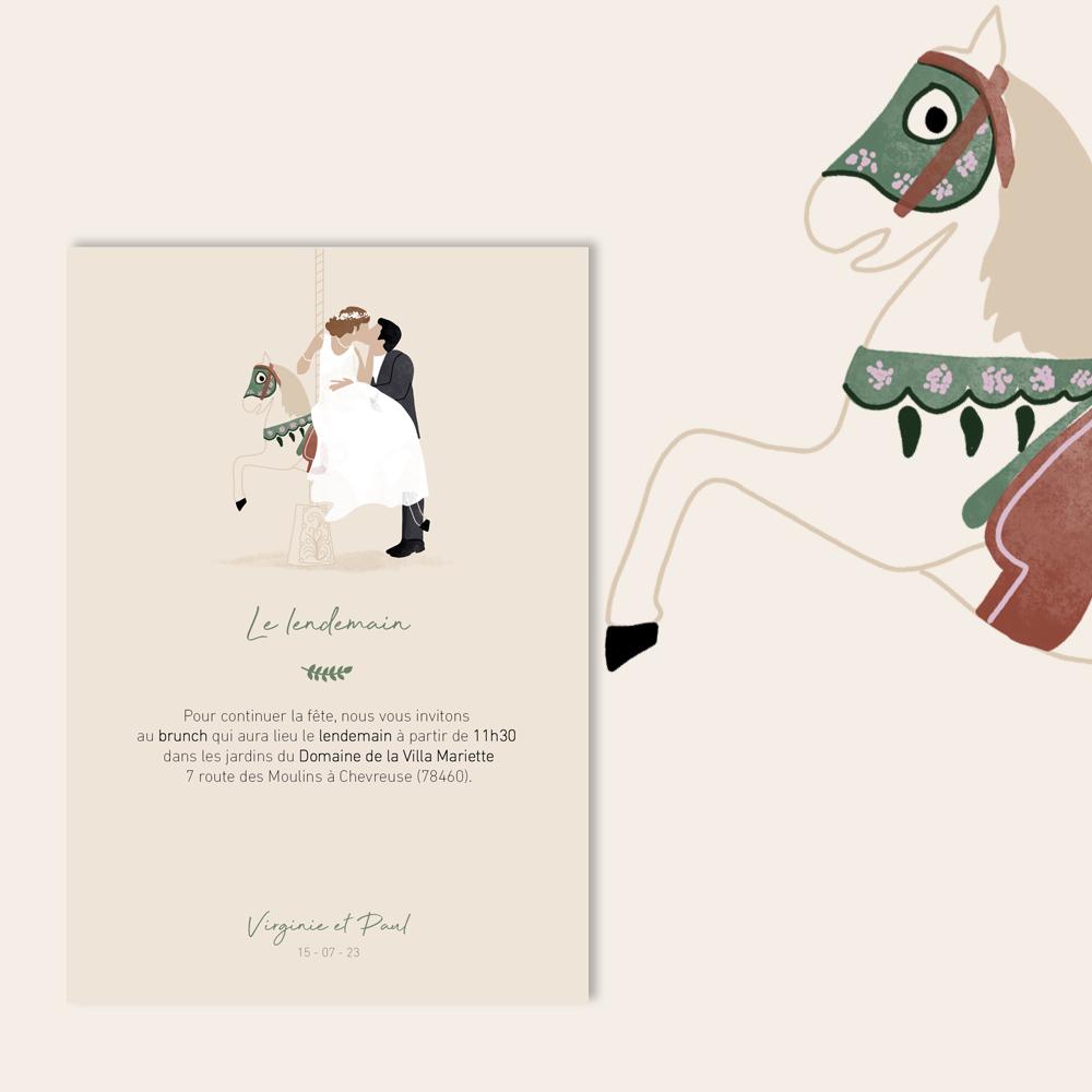 Brunch Invitation | Carrousel