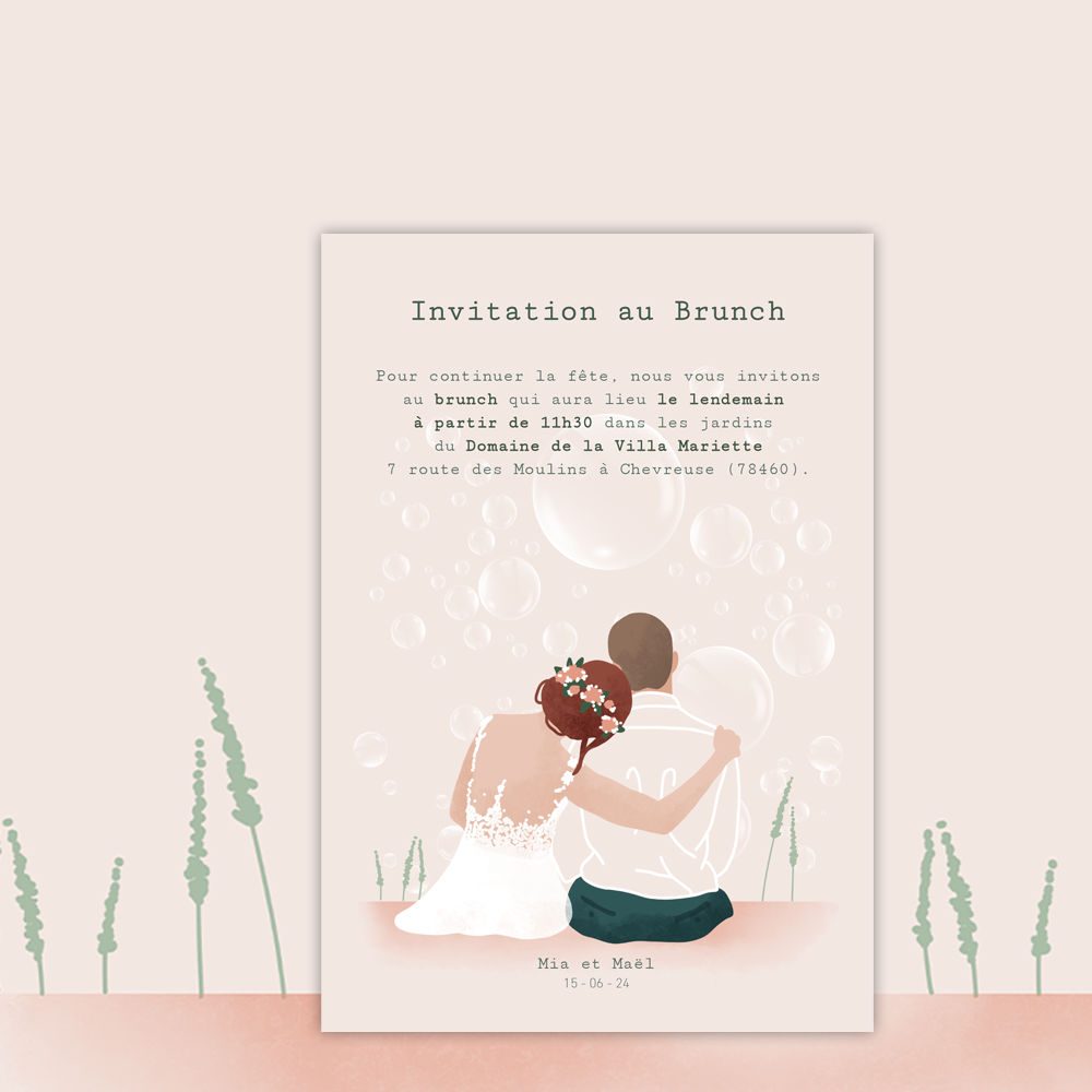 Brunch Invitation | Bubbles