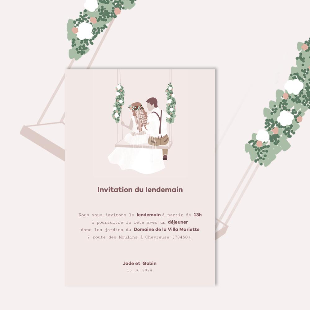 Brunch Invitation | Balançoire