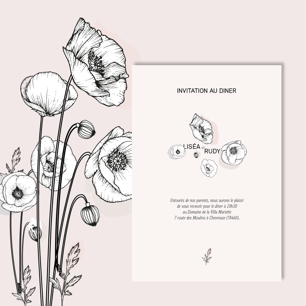 Diner Invitation | Poppies