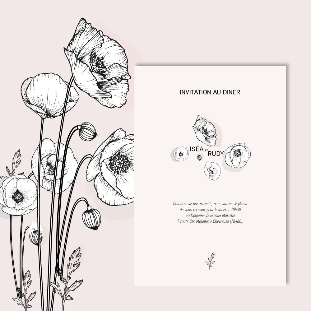 Invitation Diner | Poppies