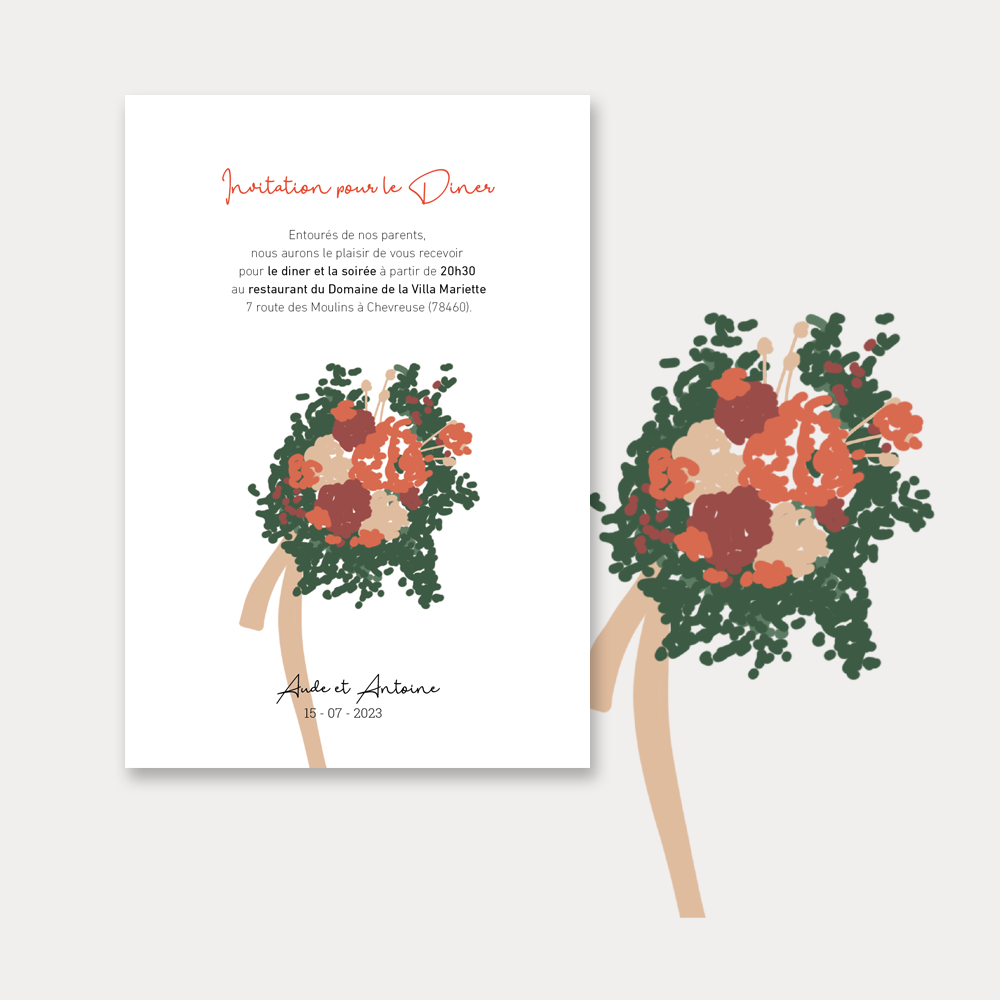 Invitation Diner | Coquelicots