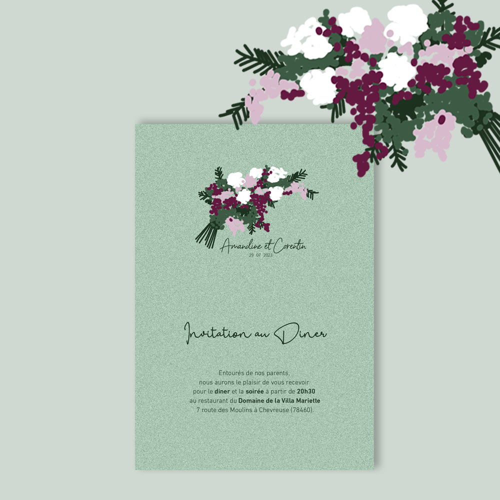 Invitation Diner | Charmille